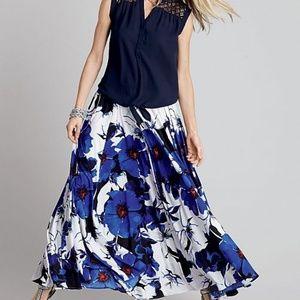 Roz & Ali Floral Maxi Skirt